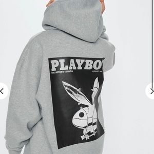Playboy Bunny Print Hoodie Dress